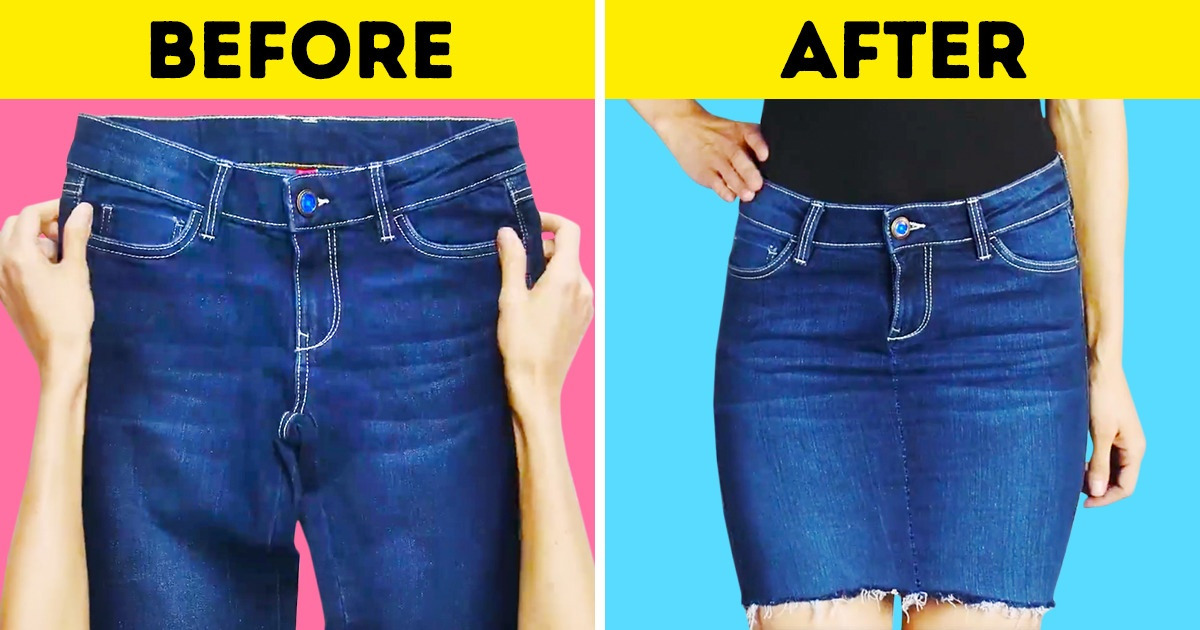 How to Make a Skirt From Jeans